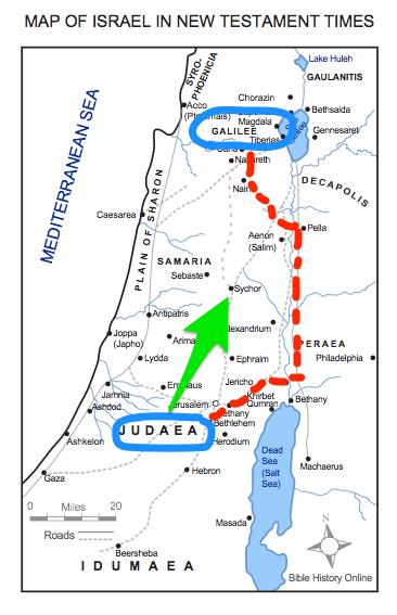 Judea Map In Jesus Time