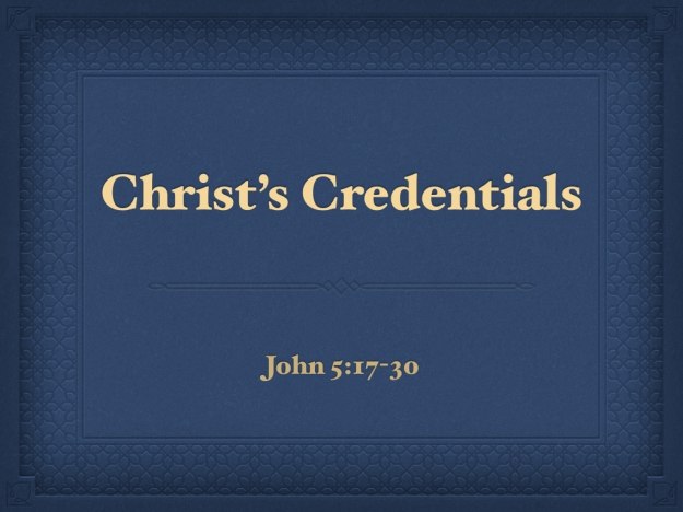Christ Credentials